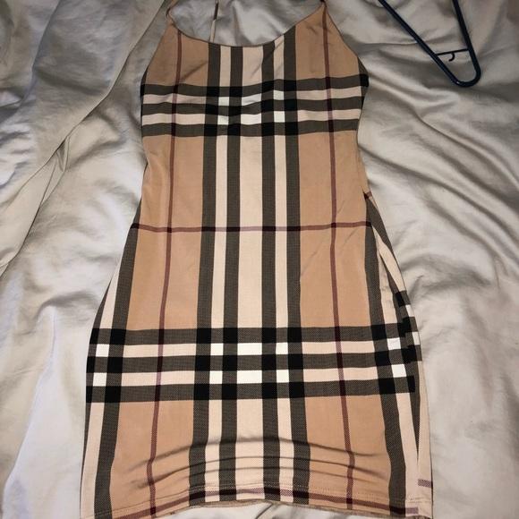 1c3ec799cc8b Fashion Nova Dresses   Skirts - Burberry lookalike dress